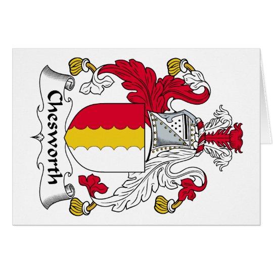 Escudo de la familia de Chesworth Tarjeta De Felicitación