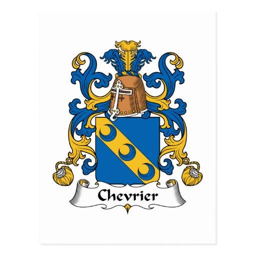 Escudo de la familia de Chevrier Postal