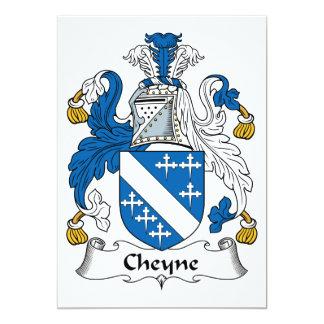 """Escudo de la familia de Cheyne Invitación 5"""" X 7"""""""