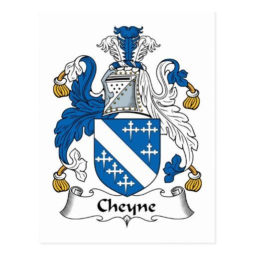 Escudo de la familia de Cheyne Tarjeta Postal