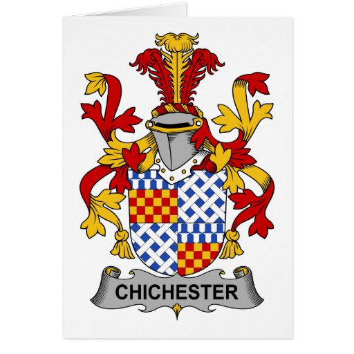 Escudo de la familia de Chichester Felicitacion