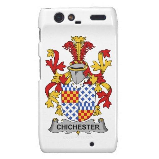 Escudo de la familia de Chichester Droid RAZR Funda