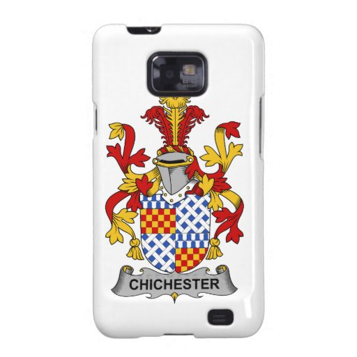 Escudo de la familia de Chichester Galaxy SII Carcasas