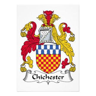 Escudo de la familia de Chichester Comunicado Personalizado