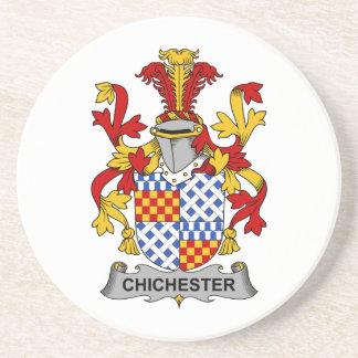 Escudo de la familia de Chichester Posavaso Para Bebida