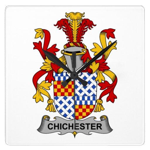 Escudo de la familia de Chichester Reloj De Pared