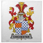 Escudo de la familia de Chichester Servilleta De Papel