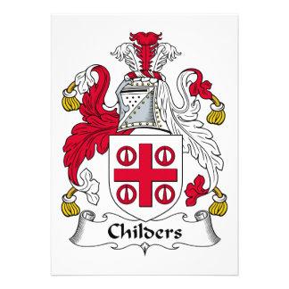Escudo de la familia de Childers Invitación