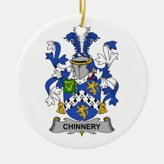 Escudo de la familia de Chinnery Adorno Redondo De Cerámica