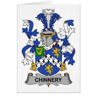 Escudo de la familia de Chinnery Tarjeta De Felicitación