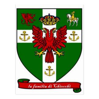Escudo de la familia de Chiocchi Postales