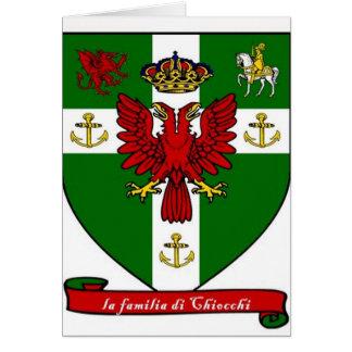Escudo de la familia de Chiocchi Tarjeta De Felicitación