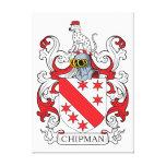 Escudo de la familia de Chipman Impresiones En Lona Estiradas