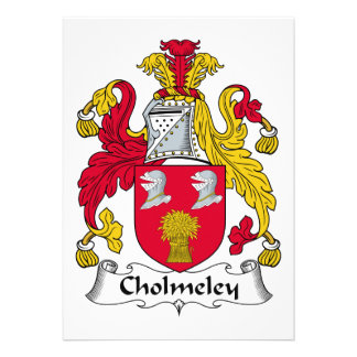 Escudo de la familia de Cholmeley Invitación Personalizada
