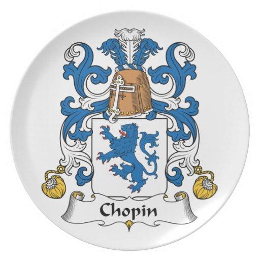 Escudo de la familia de Chopin Platos Para Fiestas