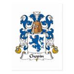 Escudo de la familia de Chopin Postal