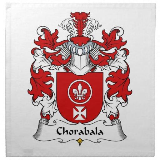 Escudo de la familia de Chorabala Servilletas