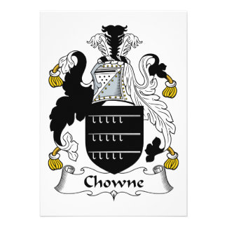 Escudo de la familia de Chowne Comunicados Personalizados