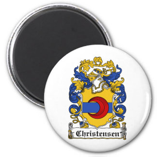 Escudo de la familia de Christensen Imán Redondo 5 Cm
