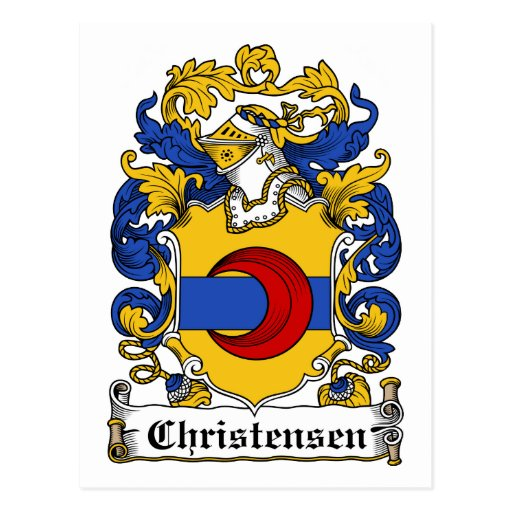 Escudo de la familia de Christensen Postal