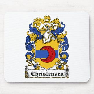 Escudo de la familia de Christensen Alfombrilla De Ratones