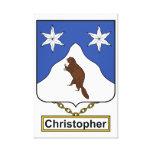 Escudo de la familia de Christopher Impresiones En Lienzo Estiradas