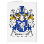 Escudo de la familia de Chroniewski Felicitacion