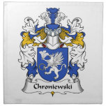 Escudo de la familia de Chroniewski Servilleta De Papel
