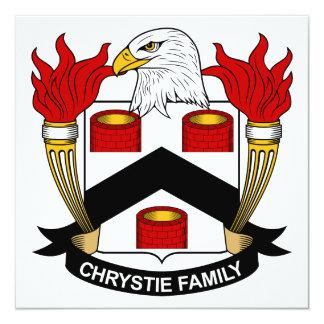 """Escudo de la familia de Chrystie Invitación 5.25"""" X 5.25"""""""