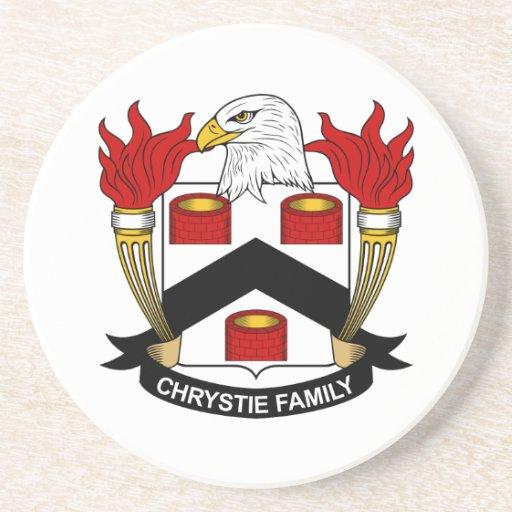Escudo de la familia de Chrystie Posavaso Para Bebida