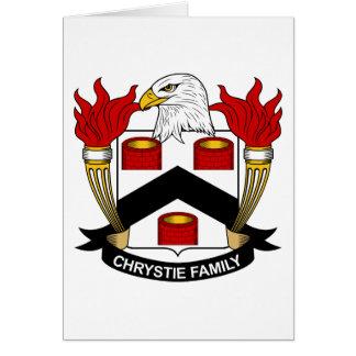 Escudo de la familia de Chrystie Tarjeta De Felicitación