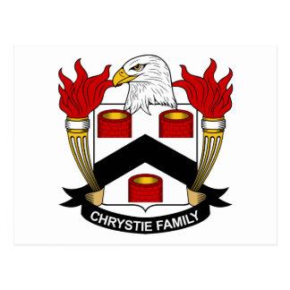 Escudo de la familia de Chrystie Tarjetas Postales