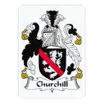 Escudo de la familia de Churchill Invitacion Personalizada