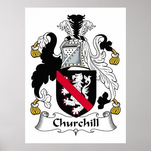 Escudo de la familia de Churchill Poster
