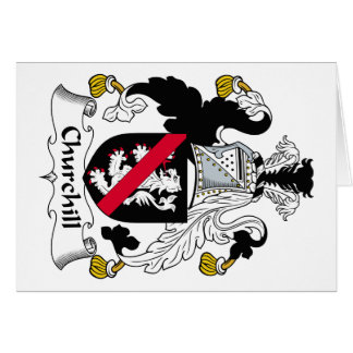 Escudo de la familia de Churchill Tarjeta De Felicitación