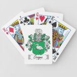 Escudo de la familia de Cicogna Baraja Cartas De Poker