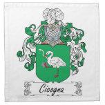 Escudo de la familia de Cicogna Servilletas De Papel