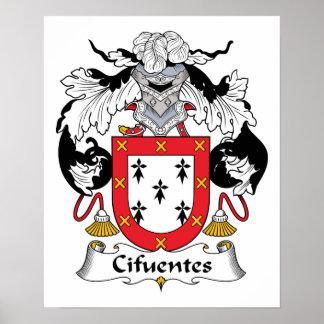 Escudo de la familia de Cifuentes Poster