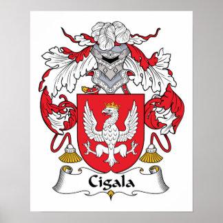 Escudo de la familia de Cigala Poster