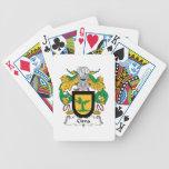 Escudo de la familia de Cima Baraja Cartas De Poker