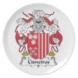 Escudo de la familia de Cisneiros Plato De Cena