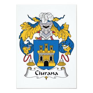 Escudo de la familia de Ciurana Invitaciones Personalizada