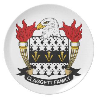 Escudo de la familia de Claggett Platos De Comidas
