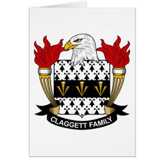 Escudo de la familia de Claggett Tarjeta De Felicitación