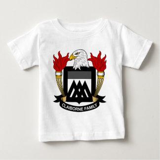 Escudo de la familia de Claiborne T Shirt