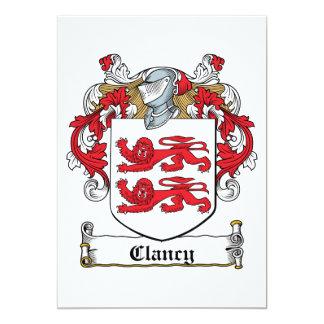 Escudo de la familia de Clancy Invitacion Personal