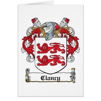 Escudo de la familia de Clancy Tarjetón