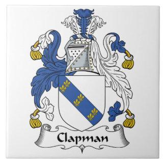 Escudo de la familia de Clapman Azulejo Cuadrado Grande