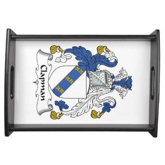 Escudo de la familia de Clapman Bandejas
