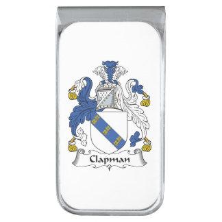 Escudo de la familia de Clapman Clip Para Billetes Plateado